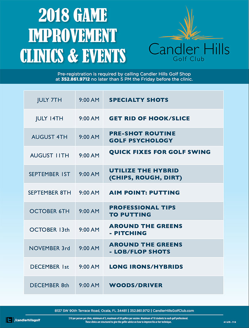 Candler Hills Golf Clinics