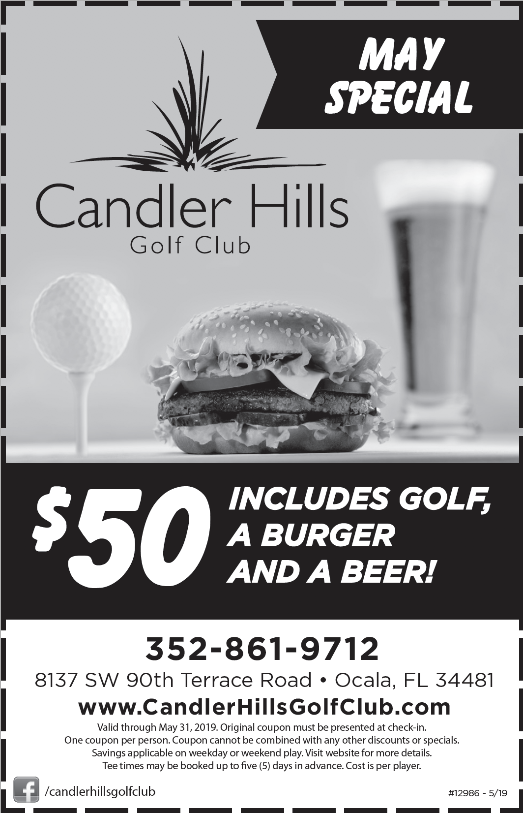 $46 Golf Deal at Candler Hills Golf Club. June 2018