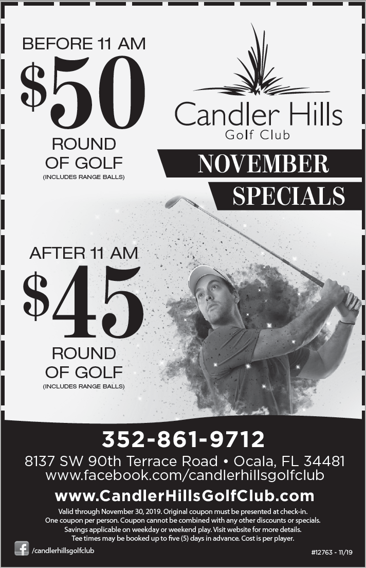 October Candler Hills Golf Club Coupon!